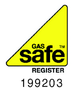 Gas Safe logo M J West registered gas safe